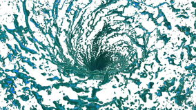 Blue Liquid tornado. Beautiful colored juice of whirl. Isolated transparent vortex of liquid like whirlwind 3d animation stock video