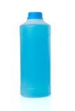 Blue liquid in trasparent plastic Stock Photo