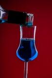 Blue liquor Royalty Free Stock Image