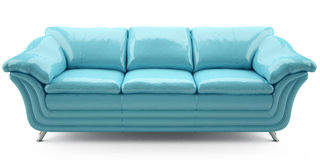 Blue lither sofa Royalty Free Stock Photo
