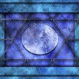 Blue little photo frame inside big frame Stock Images