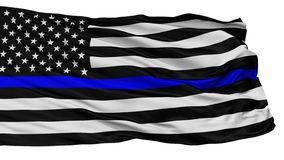 Blue Lives Matter Flag, Isolated On White royalty free illustration