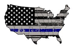 Blue Lives Matter - Stand with our Police. Our police are our front line of defense Stock Photography