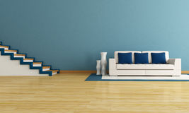 Blue living room Stock Photos