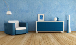 Blue living room Stock Photo