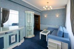 Blue living room interior Stock Image