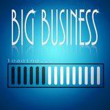 Blue loading bar with big business word Stock Image