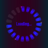 Blue loading bar Royalty Free Stock Images