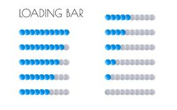 Blue loading bars Stock Image