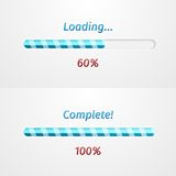 Blue loading bars Royalty Free Stock Photography