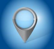 Blue locator pointer illustration design Stock Photography