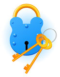 Blue lock. Vector illustration, EPS file included Stock Photo