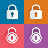 Blue lock icon Stock Photo