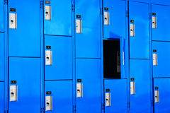 Blue Lockers Stock Images