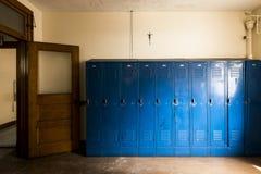 Free Blue Lockers & Cross - Abandoned Church School Stock Images - 99881404