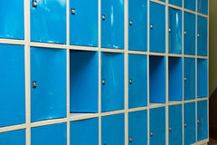 Blue Lockers In The Room Stock Photo