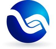Blue logo Stock Image