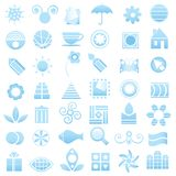 Blue logo elements collection royalty free illustration