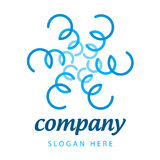 Logo blue plants Royalty Free Stock Image