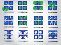 Blue logos Stock Photos