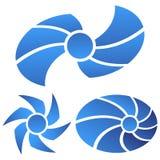 Blue logos Stock Photography