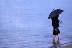 Blue loneliness Stock Photos