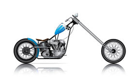 BLUE LONG CHOPPER Royalty Free Stock Photos