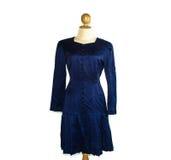 Blue long dress Royalty Free Stock Photography