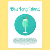 Blue Long Island cocktail icon Stock Photo