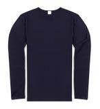 Blue long sleeve shirt on white Stock Photo