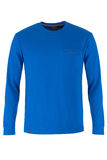Blue long sleeve t-shirt Royalty Free Stock Photography