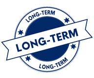 Blue LONG TERM stamp. Royalty Free Stock Image