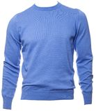 Blue longsleeve cotton jumper on a mannequin isolated Stock Images