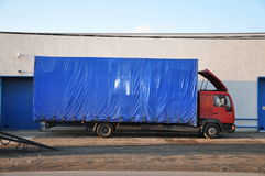 Blue lorry Stock Images