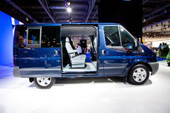 Blue lorry car Ford Transit Bus Royalty Free Stock Images