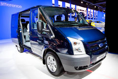 Blue lorry car Ford Transit Bus Stock Photos