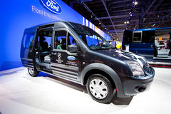 Blue lorry car Ford Transit Connect Royalty Free Stock Photo