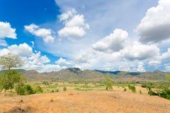 blue lotniczych chmura kraju otwartej panoramy Sycylii niebo drogowy Fotografia Stock