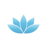 Blue lotus symbol. Spa and wellness theme design element. Vector illustration Royalty Free Stock Photography