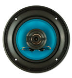 Blue loudspeaker Stock Images