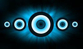 Blue Loudspeaker background Stock Images