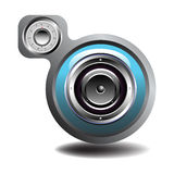 Blue loudspeaker Royalty Free Stock Photos
