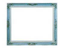 Blue louise photo frame over white background Stock Photography