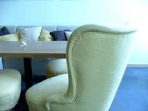 Blue lounge stock photo