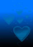 Blue love background Stock Images