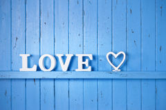 Blue Love Background Royalty Free Stock Image