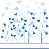Blue love forest Stock Image