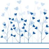 Blue love forest stock illustration