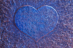 Blue love heart background Stock Photography