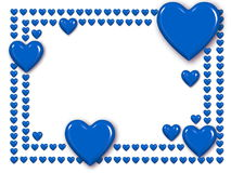 Blue love heart frame Stock Photos